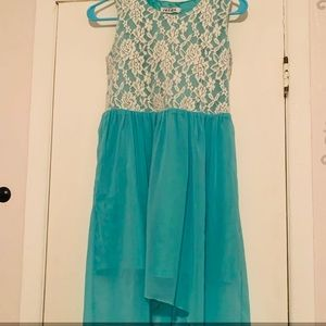Teal casual dress! Perfect for big girls! Size:L14